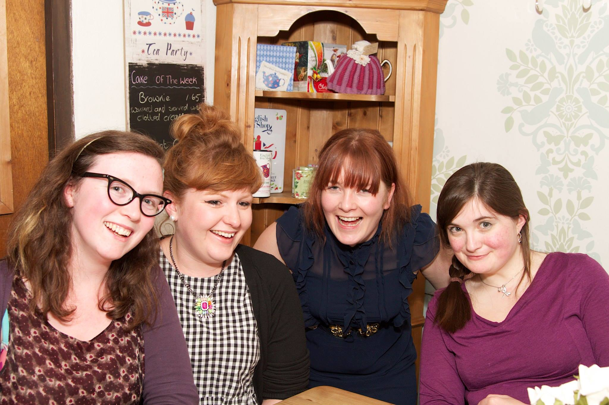 Me and my friends at Rosie's Tea Room for my birthday